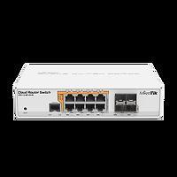 روتر سوئیچ رومیزی poe با ۸ پورت گیگ و سیستم عامل router os میکروتیک و ۴ پورت فیبرنوری