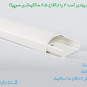 داکت دیواری نمره ۴ در ارتفاع ۲.۵ برند سوپیتا با طراحی زیبا و منحصر به فرد در رنگهای سفید طوسی و طرح چوب