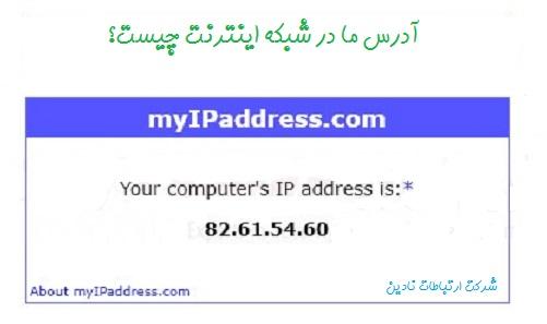 آدرس ip ما در شبکه اینترنت چیست؟