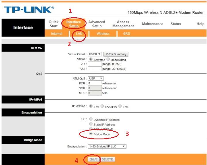 آموزش نحوه Bridge کردن مودم adsl مدل TP-Link