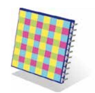 فیلتر رنگ تکمیلی CMYG جهت استفاده سنسورها برای تشخیص رنگ