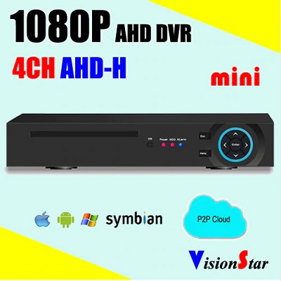 دستگاه dvr 4 کانال ahd با قابلیت انتقال تصاویر و p2p cloud