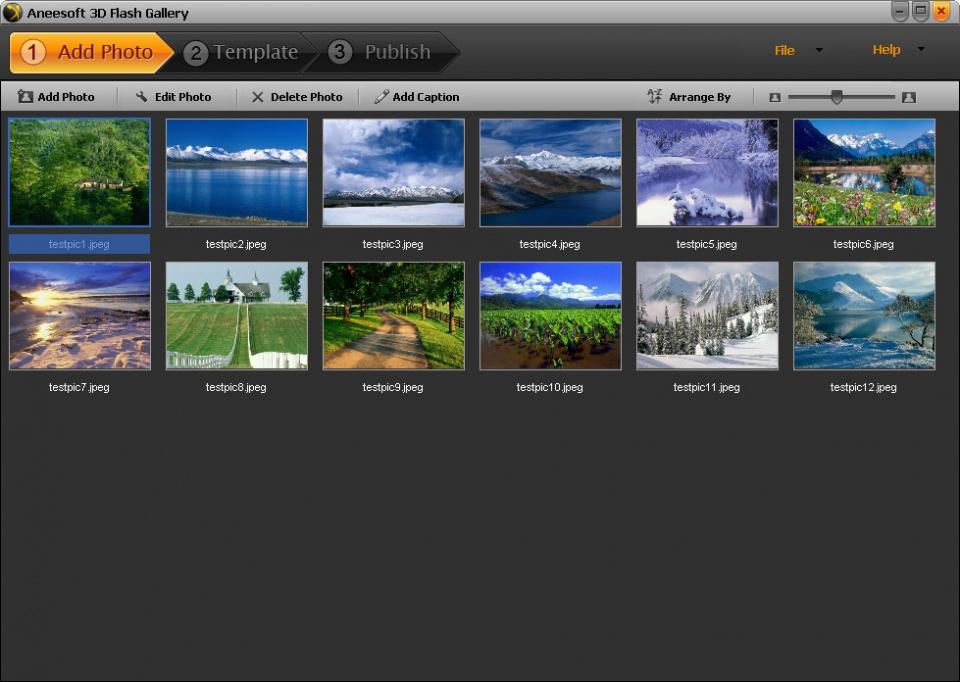 نرم افزار حرفه ای و سبک 3D Flash Gallery مناسب جهت میکس و صدا گذاری روی عکس